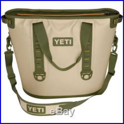 YETI Hopper 40 Portable Cooler Field Tan Blaze Orange