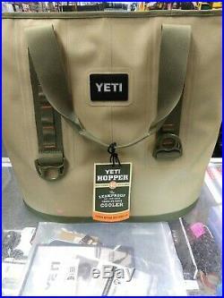 YETI Hopper 40 Portable Cooler Field Tan Blaze Orange NEW