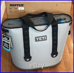 YETI Hopper 40 Portable Cooler Fog Gray/Tahoe Blue