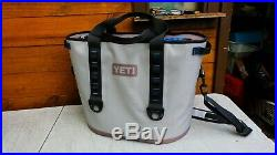 YETI Hopper 40 Portable Cooler Gray/Blue Used Twice Has a few dirty spots #88