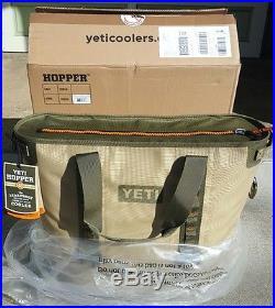 YETI Hopper 40 cooler BRAND NEW authentic Field Tan/Blaze Orange