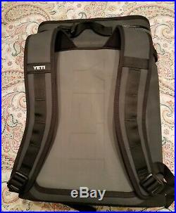 YETI Hopper Backflip 24 Soft Sided Cooler/Backpack, Charcoal NEW (Other)