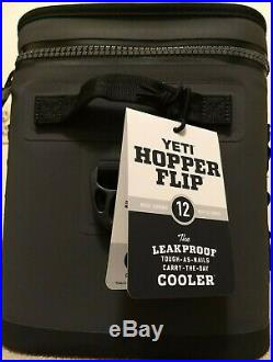 YETI Hopper FLIP 12 can CHARCOAL Cooler WithStrap NEW WITH TAGS FREE SHIPPING