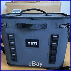 YETI Hopper Flip 18 Charcoal Portable Cooler With Bottle Openers And Bonus Ice