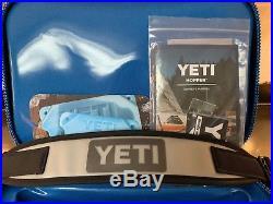 YETI Hopper Flip 18 Cooler -Fog Gray/Tahoe Blue Never Used NEW