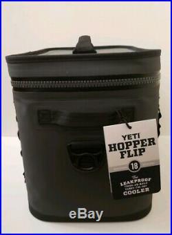 YETI Hopper Flip 18 Portable Cooler Charcoal NEW FREE SHIPPING