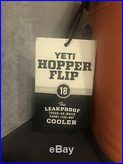 YETI Hopper Flip 18 Portable Orange CORAL Cooler