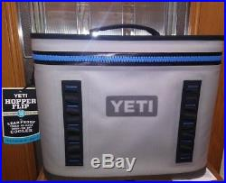 YETI Hopper Flip 18 Rugged Soft-Sided Leakproof Ice Chest Cooler, Blue/Grey-NEW