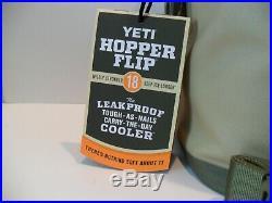 YETI Hopper Flip 18 Soft Field Tan/Blaze Orange Cooler Bag BRAND NEW YHOPF18