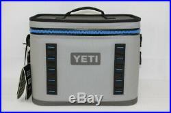 YETI Hopper Flip 18 Soft Sided Leakproof Cooler Fog Gray/Blue