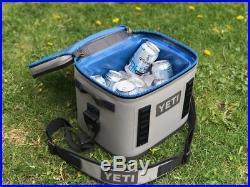 YETI Hopper Flip 8 Cooler Leakproof Fog Gray/Tahoe Blue BRAND NEW //// FREE SH