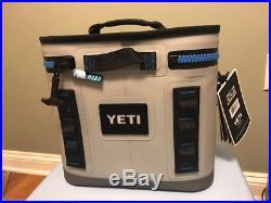 YETI Hopper Flip 8 Leakproof Cooler in Fog Gray/Tahoe Blue, Free Shipping