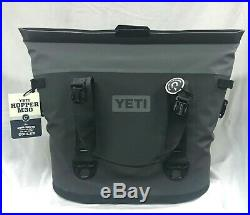 YETI Hopper M30 Portable Soft Cooler (Charcoal) 888830059807 NEW