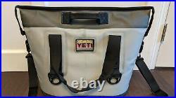 YETI Hopper Two 20 Soft Cooler Fog Gray / Tahoe Blue + SIDEKICK + Trout Patch