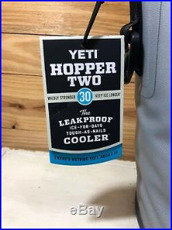 YETI Hopper Two 30 GRAY Cooler 100% Leakproof Soft Cooler NEW Free Shipping