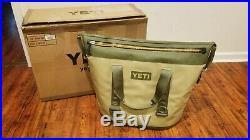YETI Hopper Two 40 Cooler Field Tan Blaze Orange Free Shipping