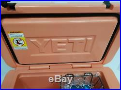 YETI Limited Edition CORAL Tundra 45 Cooler NEW in BOX + (2) Free Koozi's