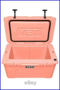 YETI Limited Edition CORAL Tundra 45 Cooler NEW in BOX + YETI Window Decal