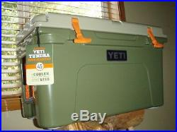 YETI Limited Edition High Country Tundra 45 Cooler, T-shirt and Camo Hat