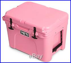 YETI Limited Edition Pink Tundra 35 qt Cooler Ice Chest with Pink Hat NEW