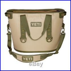 YETI Original Hopper 30 Soft Sided Cooler NEW IN BOX Field Tan & Blaze Orange