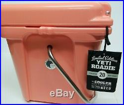 YETI Roadie 20 CORAL Cooler- New. RARE! Limited edition color. Authentic