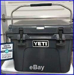 YETI Roadie 20 Cooler, Charcoal New Open Box With Tag And Paper Work