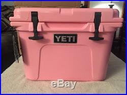 YETI Roadie 20 PINK cooler special edition new in Box free pink yeti trucker hat