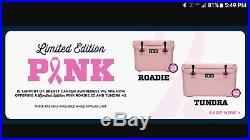 YETI Roadie 20 PINK cooler special edition with Pink Hat, Brand New in Box