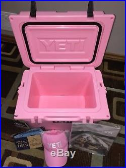 YETI Roadie 20 Qt Cooler Ice Chest PINK NEW with Ball cap Hat NEW IN BOX