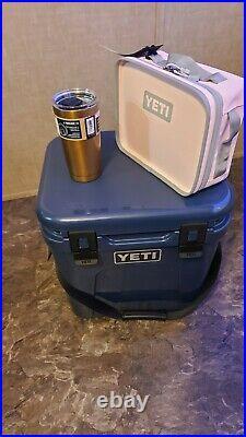 YETI Roadie 24 Hard Cooler YETI DAYTRIP BOX ICE PINK & YETI RAMBLER 20oz BOTTLE