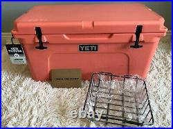 YETI TUNDRA 65 HARD COOLER LIMITED EDITION-CORAL! With DRY GOODS BASKET! NWT