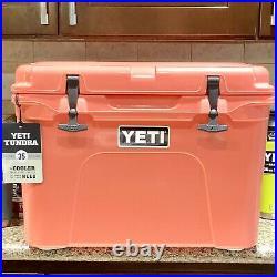 YETI Tundra 35 Coral Hard Cooler Discontinued Rare Color New Unregistered