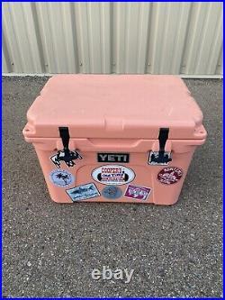 YETI Tundra 35 Coral Hard Cooler Rare Color Excellent condition