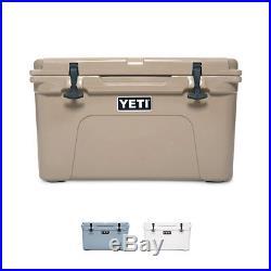 YETI Tundra 35 Hard Cooler Tan/White/Blue