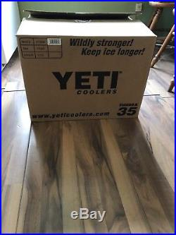 YETI Tundra 35 Quart Hard Cooler Limited Edition Budweiser White. BRAND NEW