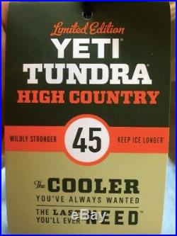 YETI Tundra 45 Limited Edition High Country Cooler Bear Proof Rare Camping Ice