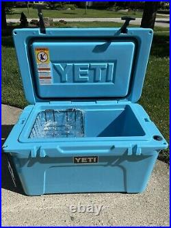 YETI Tundra 45 Reef Blue Cooler Limited Edition New with Tag RARE Discontinued