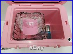 YETI Tundra 50 Pink Cooler- New. RARE! With Pink Hat and basket