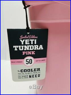 YETI Tundra 50 Pink Cooler- New in box. RARE! With Pink Hat and basket