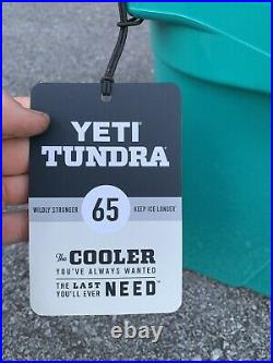 YETI Tundra 65 Cooler Aquifer Blue Teal Brand New With Tags In Box Discontinued