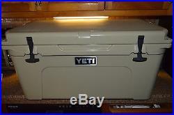 YETI Tundra 65 Cooler Desert Tan Bear Resistant withSliding Yeti Tray Insert