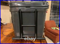 YETI Tundra Haul Cooler, Charcoal, RARE, Red Latches and Sticker, FREE SHIPPING