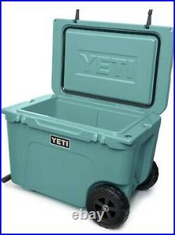YETI Tundra Haul Portable Wheeled Cooler RARE COLOR Aquafier Blue NWT