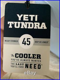 YETI YT45 Tundra 45 Ice Cooler 9.4 Gallon Capacity Ice Blue