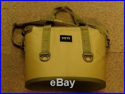 Yeti 30 Hopper Tan and Green Leakproof Cooler