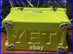 Yeti CHARTREUSE WITH BLUE Latch Kit Tundra 45 Cooler Extremely RARE