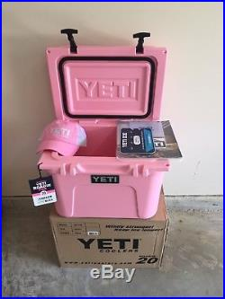 Yeti Cooler Roadie 20 PINK Limited Edition New In Box With FREE HAT