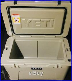 Yeti CoolerDISPLAY MODELTundra 45 Quart Desert Tan YT45T SUPERB CONDITION