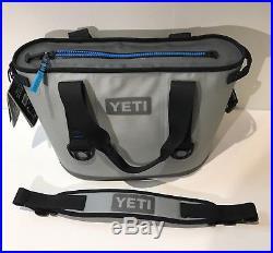 Yeti Hopper 20 Cooler, Blue & Gray Soft Bag Portable NEW